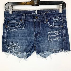 7 for all mankind DOJO custom shorts 25